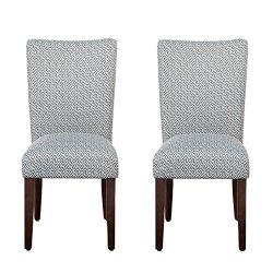 HomePop K6805-F2063 Parsons Classic Dining Chair, Set of 2, Shades Blue