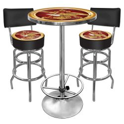Anheuser Busch Ultimate Gameroom Combo – 2 Bar Stools with Back & Pub Table