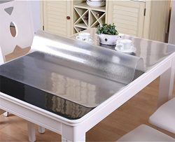 VALLEY TREE 1.5mm Clear Table Cover Protector PVC Desk Pad Soft Glass Dining Tablecloth Transpar ...
