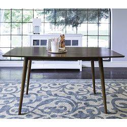 WE Furniture 60″ Mid-Century Wood Dining Table – Acorn