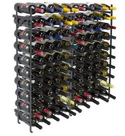 Sorbus Wine Display Rack [100 Bottle] Large Capacity Wobble-Free Wine Shelves, Wine Storage Stan ...
