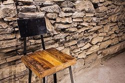 Brew Haus Industrial Style Bar Stools with Scooped Backs | Free Shipping