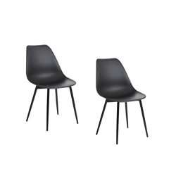 Polorim Eames Chair Modern desk chair Outdoor High Grade Office Chair Leather dining chair in bl ...