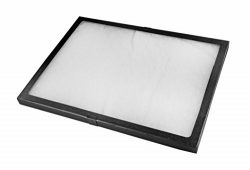 "SE JT9212 Glass Top Display Box with Metal Clips, 16"" x 12"" x 0.75″"