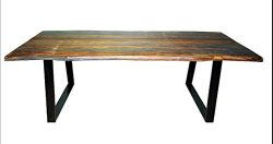 Scott Living Jamestown Collection Grey and Black Finish Dining Table