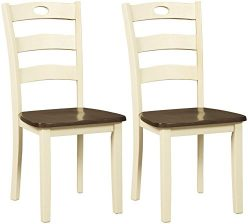 Ashley Furniture Signature Design – Woodanville Dining Side Chair – Set of 2 – ...