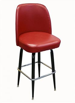 American Tables & Seating SR-4J Swivel Bar Stool, Jumbo Bucket Seat and Cross-Over Base, 3 P ...