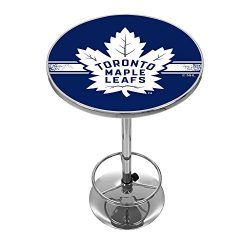 Trademark Gameroom NHL Toronto Maple Leafs Chrome Pub Table