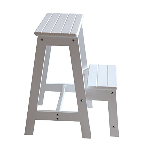 Vogvigo 2 Tier Solid Wood Step Stool Two Staircase Folding