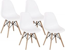 Mimo Life Mid Century Modern Style Eames Chair Assembled Wooden Legs Side Chairs Plastic Shell S ...