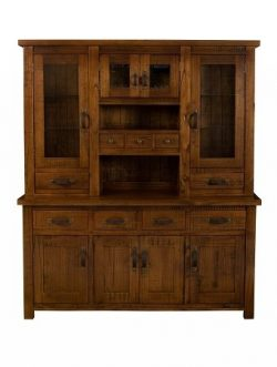 Hillsdale Furniture 4321BH Outback Buffet and Hutch in Distressed Chestnut,