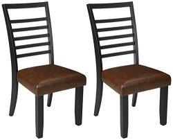 Ashley Furniture Signature Design – Manishore Dining Chair – Contemporary Style R ...