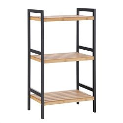 SONGMICS Multifunctional 3-Tier Storage Rack,Shelving Unit Stand Tower,Bookcase for Bathroom Liv ...
