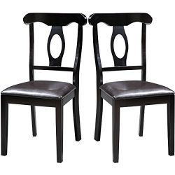 Harper Bright Design Wood Dining Chair Dining Room Side Chair, Set of 2 (Oval-Back)