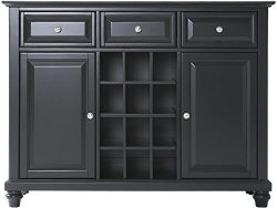 Crosley Furniture Cambridge Wine Buffet/Sideboard – Black