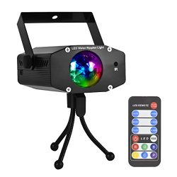 Eyourlife 9W Portable Water Wave Light RGB LED Ocean Wave Projector Ripple Effect Stage Lighting ...