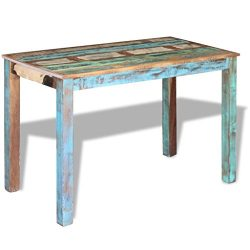 vidaXL Solid Reclaimed Wood Dining Table Dining Room Kitchen Home Furniture