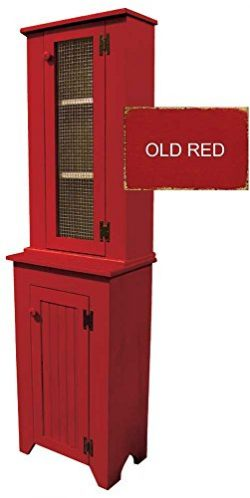 Sawdust City Jelly Cupboard and Tall Hutch Set (Old Red)