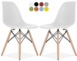 La Valley Eames Style Chair by Set Of 2 – Mid Century Modern Eames Molded Shell Chair with ...