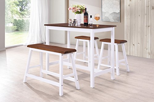 Harper&Bright Designs 4-Piece Dining Set Counter Height