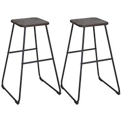 LCH 30-Inch Backless Bar Stools for Home Kitchen Restaurant or Counter, Set of 2 Vintage Industr ...