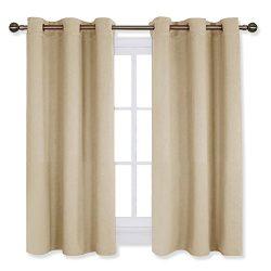 NICETOWN Room Darkening Curtain Panels for Living Room, Thermal Insulated Grommet Room Darkening ...