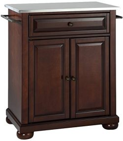 Crosley Furniture Alexandria Cuisine Kitchen Island with Stainless Steel Top – Vintage Mah ...