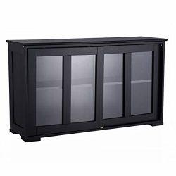 Heaven Tvcz Storage Cabinet Sideboard Buffet Server Wine Cupboard Glass Sliding Door Pantry Kitc ...