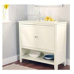 Kitchen Dining Storage Cabinet Sideboard Buffet Server in Antique White Dining Storage Cabinet K ...