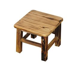 STEP STOOL YXX Indoor Wood Kids Small Foot Stools Wooden Utility Footstool Shoe Bench Flower Rac ...