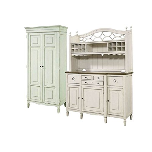 Dining Room Set With Hutch: Home Square 2 Piece Dining Room Set With Tall Cabinet