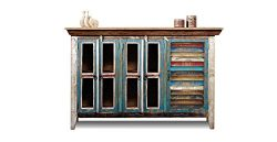Crafters and Weavers Reclaimed Wood Sideboard Cabinet / Bookcase / China Cabinet / TV Credenza