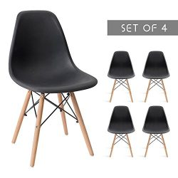 Devoko Mid Century Modern Style Pre Assembled Dining Chair DSW Classic Plastic Side Chair Armles ...