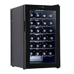 Mecor Wine Cooler Freestanding Thermoelectric Wine Refrigerator Cabinet Red and White Wine Cella ...