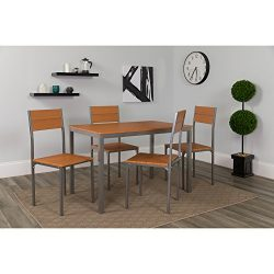 Flash Furniture Castleton 5 Piece Cherry Finish Dinette Set with Chairs