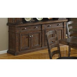 Emerald Home Castlegate Pine Brown Buffet with Two Drawers And Adjustable Shelves