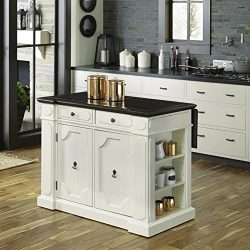 Home Styles 5076-94G Fiesta Granite Inset Top Kitchen Island