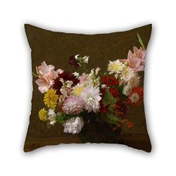 18 X 18 Inches / 45 By 45 Cm Oil Painting Victoria Dubourg (Fantin-Latour) – Flowers Pillo ...