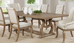 Scott Living Glen Cove Collection Barley Brown Dining Table