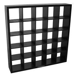 The Tie Wall Tie Belt Socks Scarves Closet Organizer Display Cabinet Storage (Black)