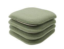 GoodGram 4 Pack Non Slip Honeycomb Premium Comfort Memory Foam Chair Pads/Cushions – Assor ...