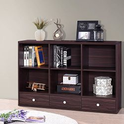 Harper&Bright Designs Sideboard Storage Console Table Living Room Console with Three Drawers ...