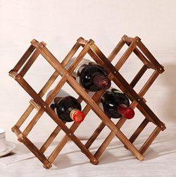 Wooden Red Wine Rack 3/6/10 Bottle Holder Mount Bar Display Shelf Folding Wood Wine Rack Alcohol ...