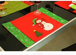 Christmas Placemats, Zubita Knife Fork Placemat Christmas Snowman Snowflake Table Mat Christmas  ...