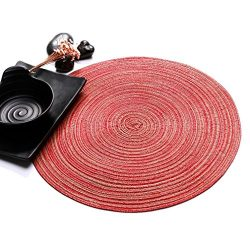 Placemats,Fheaven (TM) 35cm Round Circle Placemats Table Place Mats Non-slip Kitchen Dinner Tabl ...