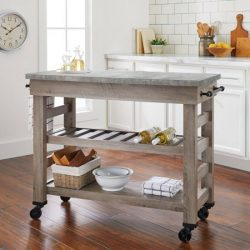 Better Homes and Gardens Modern Farmhouse Multi-Purpose Cart, Rustic Gray