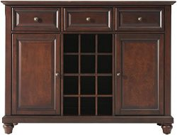 Crosley Furniture Cambridge Wine Buffet/Sideboard – Vintage Mahogany