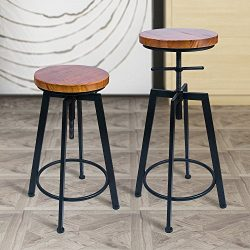 ANXITIEGONGYI Best Bar Stools/Chairs for Bistro Pub Breakfast Kitchen Coffee house, Swivel Metal ...