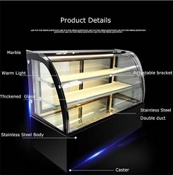 New Refrigerated Cake Showcase Curved Commercial Pie Display Case Cabinet Cooler Bakery Display( ...