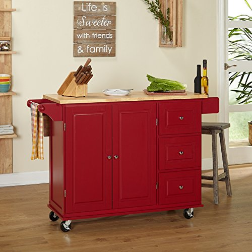 21 Beautiful Kitchen Islands And Mobile Island Benches: Kitchen Island On Wheels Drop Leaf Utility Cart Mobile